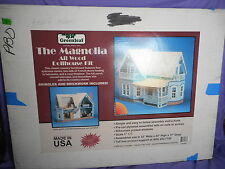 "VINTAGE GREENLEAF ""THE MAGNOLIA"" FARMHOUSE ALL WOOD DOLLHOUSE KIT #9303 SCALE 1"""