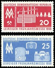 EBS East Germany DDR 1959 Leipzig Spring Fair MNH Michel 678-679**