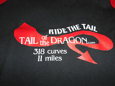 Ride TAIL OF DRAGON DEALS GAP Long Sleeve T-Shirt Black WOMANS Adult Large L Tee
