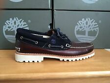 Timberland Authentic 3 occhio marrone/blu Marino Barca Tg UK 13.5 EU 49 9752b RRP £ 130