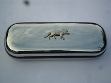 Fox walking brand new chrome glasses case great gift! Fathers day, Christmas