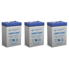 Power-Sonic 3 Pack - 6V 4.5AH SLA Battery for Emergency Exit Lighting