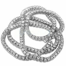 13 Carat Clean Real Diamonds SI1 Mens Tennis Necklace Chain 10k White Gold 1 Row