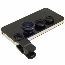 3 in1 Fisheye + Wide Angle + Micro photo Lens Kit for Apple iPhone 5 5S 5C 4 4GS