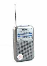DEGEN DE333 FM AM Radio Receiver Mini Portable Two Bands Radio Tuning LED+track