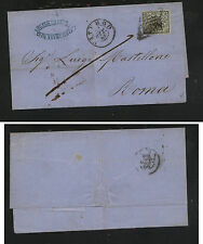 Italy   Roman States   #3  on  small folded envelope 1866       MS0825