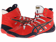 NIB MENS ASICS OMNIFLEX-ATTACK WRESTLING SHOES - 11 / 44 - RED/NAVY/WHITE