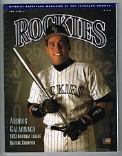 1994 Colorado Rockies MLB Baseball Magazine Volume 2 #1 Program