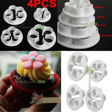 4Pcs Cook Bake DIY Decor Cookie Cake Paste Sugar Cutters Mold Plunger Craft Tool
