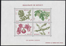 1983 MONACO BLOC N°26** BF SAISONS fruits figuier figues,  fig Sheet MNH