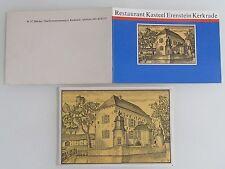 KERKRADE Restaurant Kasteel Erenstein 1x Briefkaart und 1x Reklame Klappkarte