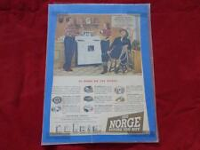 1946 NORGE  STOVE Advertisement ALAN HALE, ROBERT ALDA, MARTHA VICKERS