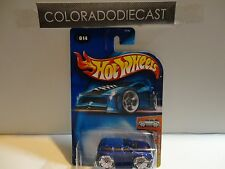 2004 Hot Wheels #14 Blue Blings Cadillac Escalade w/Bling Wheels