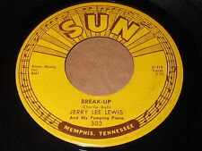 Jerry Lee Lewis: Break-Up / I'll Make It All Up To You 45 - SUN 303 - Rockabilly