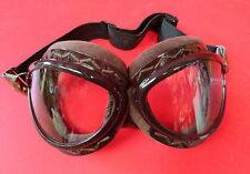 "JAPANESE IMPERIAL NAVY PILOT FLYING GOGGLES ""CAT EYE"" STYLE"