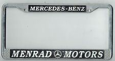 RARE Covina California Menrad Motors Mercedes Benz Vintage License Plate Frame