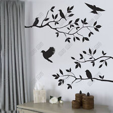 WORLDWIDE BLACK BIRD TREE BRANCH WALL STICKERS ART REMOVABLE HOME OFFICE DECOR