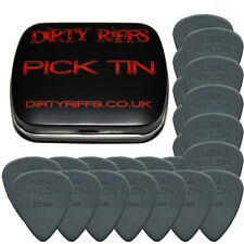 24 x Dunlop Nylon Standard 0.88mm Dark Grey Guitar Picks In A Handy Pick Tin