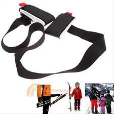Adjustable Ski Pole Shoulder Hand Carrier Lash Handle Hook Loop Straps Porter
