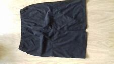 BNWT SIZE 12 SUEDE EFFECT BLACK SKIRT