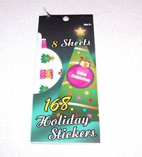 8 SHEETS OF HOLIDAY STICKERS -VARIOUS PATTERNS/DESIGNS - GREEN PACKAGE