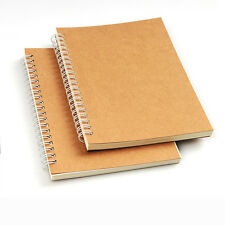 "B6 KRAFT cover Spiral Notebook 5.1x7.5"" Wirebound 60 Sheets 100gsm writing paper"