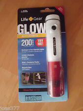 Life Gear Auto Glow Rechargable Flashlight - Flasher - Free Replacement Battery