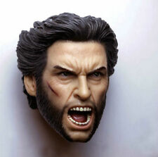 Custom 1/6 Scale Hugh Jackman Wolverine Head Sculpt For Hot Toys Body