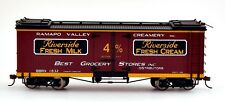 Bachmann On30 Scale Train Reefers Riverside Milk Dairy 27404