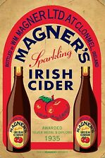 MAGNER'S CIDER RETRO METAL TIN SIGNS vintage cafe pub bar garage