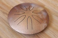 "Ajna 10"" 7 Tone Hammered Copper Steel Tongue Drum - Pentatonic Scale - USA Made"