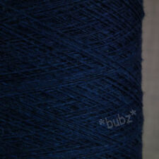 100% PURE CASHMERE WEAVING YARN 100g CONE INDIGO BLUE 14 NM SINGLE FOLD TWIST