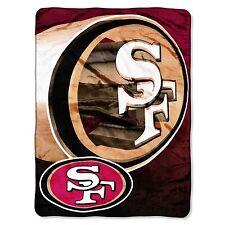 "NFL San Fransisco 49ers Blanket 60"" x 80"" Microfiber Plush Throw Twin sherpa new"