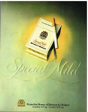 Publicité Advertising 1981 Les Cigarettes Benson & Hedges Special Mild