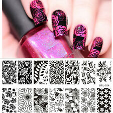 Nail Art Stamping Plate Flower Maple leaves Image Template BP-L024 12.5 x 6.5cm