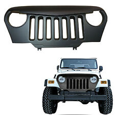 US Ship Front Matte Black Angry Bird Grill Grille For Jeep Wrangler TJ 1997-2006