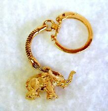Old REPUBLICAN ELEPHANT KEY RING Gold Plated 1-1/8 X 3/4 inch UNOPENED IN BAGGIE