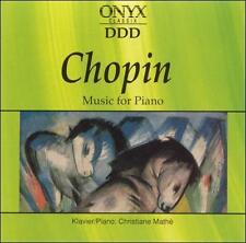 F. Chopin Music For Piano ONYX Classix DDD CD Album Holland Import 1990 Point