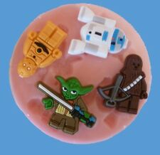 STAR WARS LEGO ROBOTS SILICONE MOULD FOR CAKE TOPPERS, CHOCOLATE, CLAY ETC