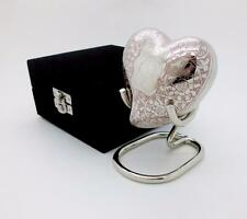 Brass Multicolour Teddy Bear Keepsake Heart Cremation Memorial Urn, Case & Stand