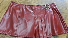 Lip Service Wrapping Vinyl Skirt Red Women's Large EUC