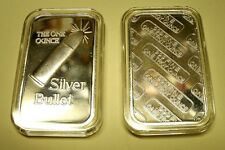 **Unique Gift Idea! One -1 Troy oz- ART BAR .999 FN SILVER BULLET BAR+Extras