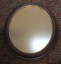 """NEW Lot of 2 Oval Dark Tone Wood Picture Frame With Glass 16 1/2 x 13 1/2"""""""