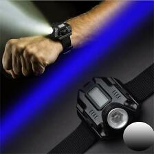 Tactical CREE LED 1000 Lm Wrist Watch Flashlight Torch LED Display Lamp Light