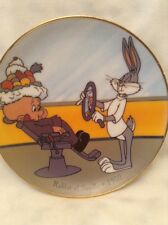 1992 ELMER FUDD BUGS BUNNY RABBIT OF SEVILLE WARNER BROTHERS LOONEY TUNES PLATE