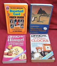 4 Book Lot-Blue Book of Gun Values/Baseball Card Price Guide/Hummel fig. guide
