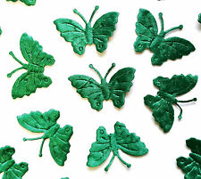 50 Verde Tejido Motivos De Mariposa 4 BRICOLAJE Tarjeta Manualidades Costura y