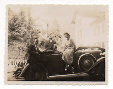 PHOTO Voiture ancienne Auto Automobile Décapotable CAUX 1933 Snapshot Groupe