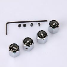 Anti Theft Car Wheel Tire Valve Stem Air Cover Caps Fit For Opel Silvery White