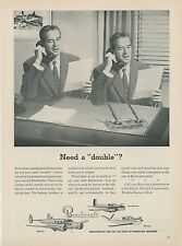 1953 Beechcraft Aircraft Ad Executives Need to Be in 2 Places at Same Time